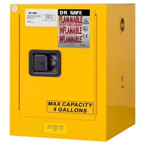 "Flammable Cabinet 4 Gallon 22"" x 17"" x 17"" Self-Closing Door"