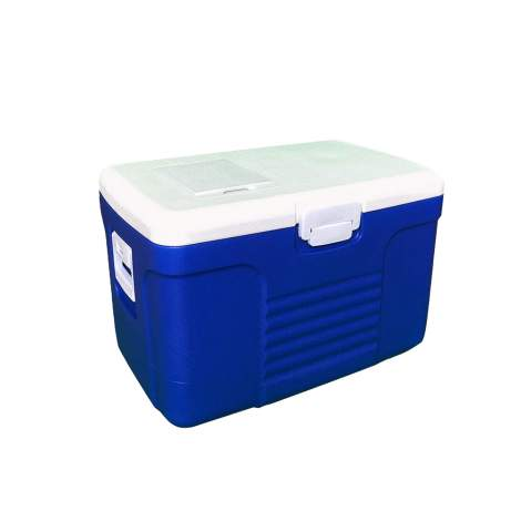 18pcs 58Qt Portable Blue Ice Chest Cooler with Lid Expanded Polystyrene