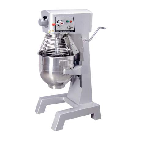 Commercial Planetary Floor Mixer 30QT.With Guard& Standard Accessories