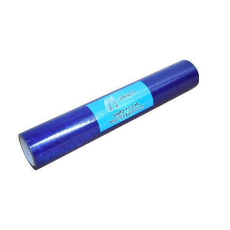 Qty 50 Hard Floor Protection Film 24'' x 200' 3 Mil Polyethylene Blue