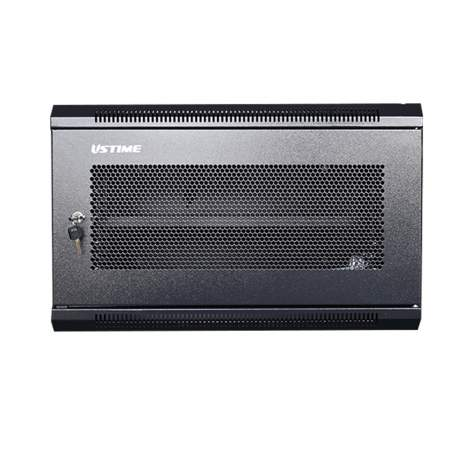 """6U 23.6"""" Depth  Perforated  Wall Mounted Cabinet With 2fans And 1shelf"""