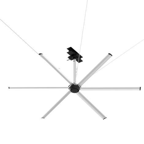 8ft  2.4M HVLS Ceiling Fan for industrial warehouse  factory Gym Commercial PMSM Motor 208-240V 6 Blades