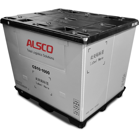 """48 x 40 x 39""""  Collapsible Pallet Pack Container 2600 lbs Cap."""