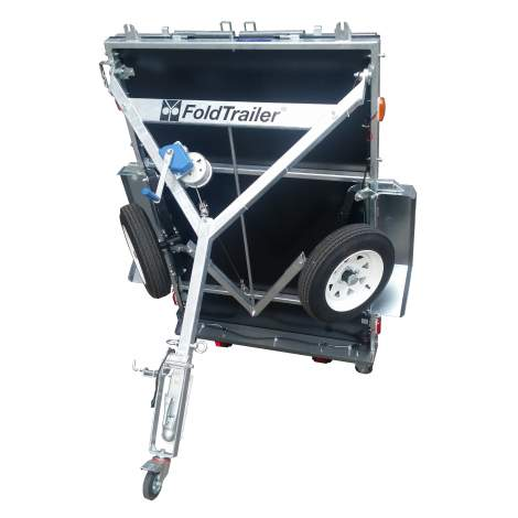 6´ x 4´Galvanized Steel Folding Utility Box Trailer-1250-LBS.