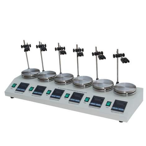6L Laboratory Magnetic Stirrer Hot plate Digital Display 6-Position