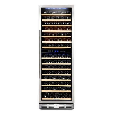 """Kalamera 24"""" 15.9 Cu.ft 157 Bottle Built-in Wine Cooler"""