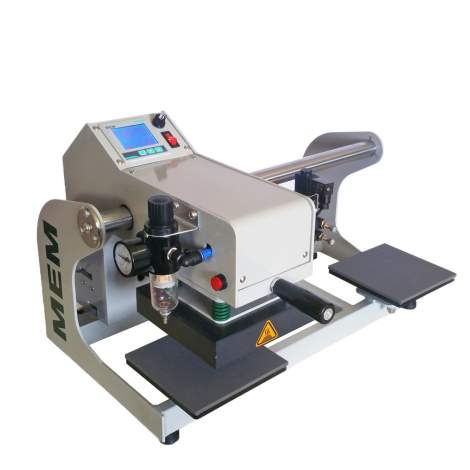 """6""""x6"""" Small Label Pneumatic Heat Press Machine With Double Stations"""