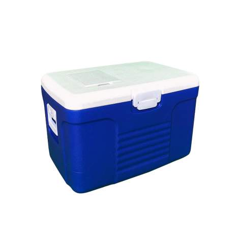 18pcs 58Qt Portable Blue Ice Chest Cooler with Lid Poly Urethane