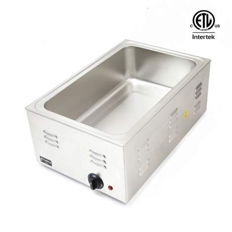 Commercial Countertop Food Warmer Cooker Buffet , Full Size,120V 1200W