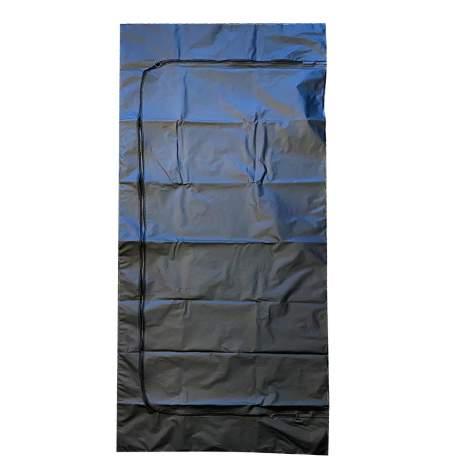 "Heavy Duty Body Bag Hot Melt Handle  Adult PEVA, 92"" x 36"",  Black"