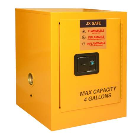 """Flammable Safety Cabinet Manual Close Door, 4 Gallon  22"""" x 17"""" x 17"""""""