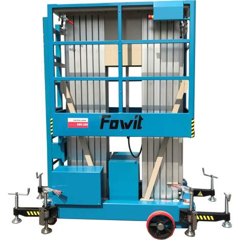 Double Mast Aluminum Work Platform with Gated 39 feet 660 lbs
