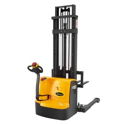 """Fully Powered-Electric Straddle Walkie Stacker 3300 lbs 118"""" High"""
