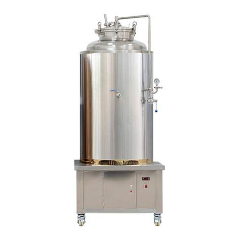 4.2BBL Turnkey All Grain Beer Fermenter with Built-in Cooling System