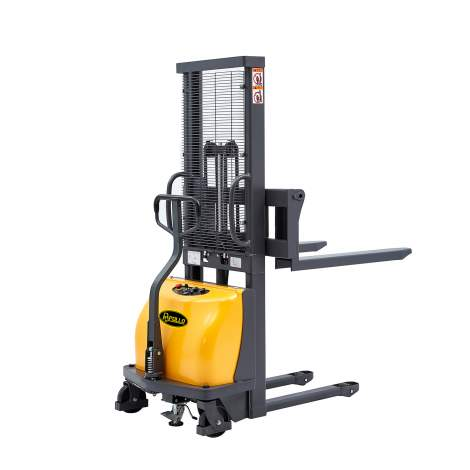 """Semi-Electric Stacker 2200lbs Capacity 63"""" Lifting Height"""