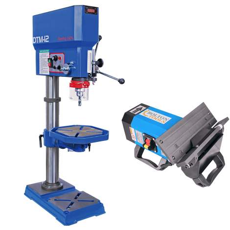 """Chamfering Beveling Machine Portable/Desktop 2 in 1 / 18"""" Industrial Variable Speed Drill Press Tap Machine (Combo)"""
