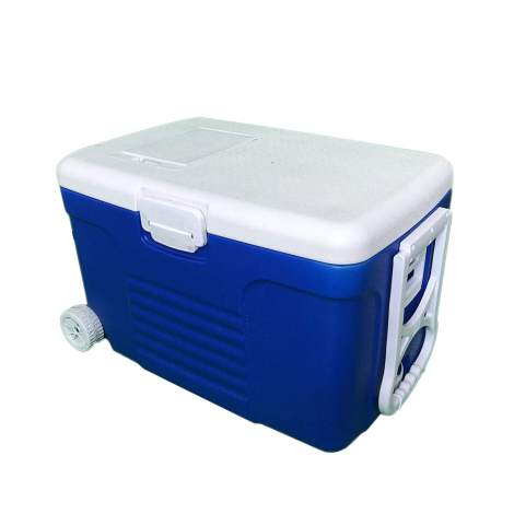 18pcs 58Qt Ice Chest Cooler with Durable Wheels and Reinforced Tow Handle