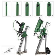Concrete Core Drill 2xMotors & 2xStands With 5xCore Bits &1xAnchor Set