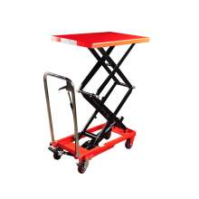 Manual Double-Scissor Lift Table 1760 lb, 55.5'' Max Lifting Height