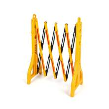 Yellow Black Retractable Portable Plastic Barricade Scale to 98""
