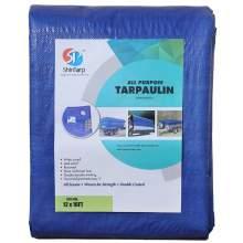 Blue Poly Tarp 12 ft x 12 ft 5 mil thick Multi-purpose tarp cover