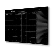 Floating Glass Calendar Blackboard - 35 x 47 - Magnetic - Black
