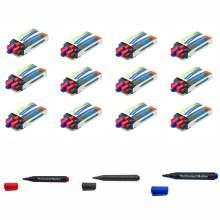 Permanent Marker Pen Bullet Tip 3 Colors (Red,Blue,Black) Set Of 144