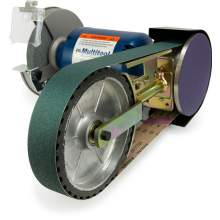"8"" Multitool Grinder 1HP 120V, assembled with 8CW attachment (2x48 belt - 8"" contact wheel)"
