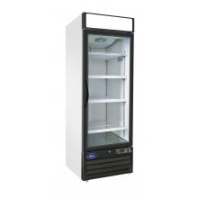 Valpro  23 cu. ft. Stainless Steel Single Glass Door Refrigerator