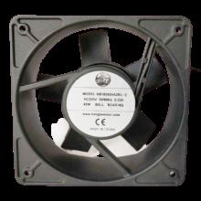 7.09'' 220vac Axial Fan, 500/60Hz, 45W, 395cfm, 1ph, lead wires