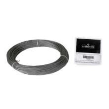 "Galvanized Cable 3/32"" x 100' Capacity 184 Lbs 7x7"