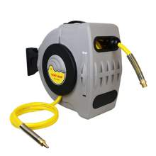 Retractable Air Hose Reel with 1/2Inch by 60Feet PVC mesh Hose