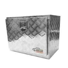 23.4 in Aluminum Full Size Truck Tool Box, Silver