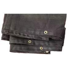 Black Protective Cover 8' x 16' Black Mesh Tarp Grommets 70% Shade
