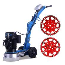 10'' Folding concrete floor grinder & 2x grinding heads