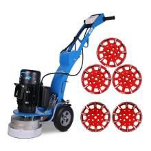 10'' Disc concrete floor grinder & 5x grinding heads