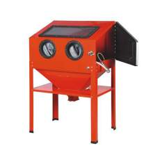 Bench Top Floor Abrasive Blast Cabinet with Glass Viewing Windows