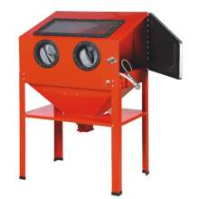 Bench Top Abrasive Blast Cabinet with Glass Viewing Windows