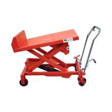 Hydraulic Manual Scissor Lift Table Cart 1100 LBS Max. Height 51 Inch