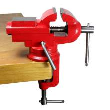 """Bodee BD0804001B 2 1/2"""" Table clamp vise with anvil and 360° locking swivel base heat treated"""