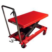 Manual Single-Scissor Lift Table 1540 lb,40'' Max Lifting Height