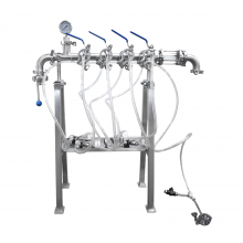 Manual 4-Head Keg Filler Keg Filling Station
