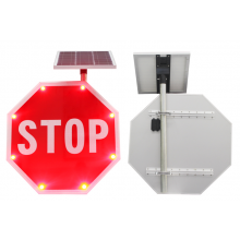"MUTCD Stop Traffic Sign Edge Lit Sign 30"" Solar Type LED STOP SIGN"