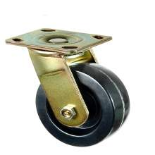 """8"""" Heavy-Duty Swivel With Brake Plate Caster 1200 Lb Load Rating"""