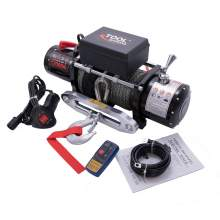 12000lb 12V Electric Winch Quiet Brake Synthetic Rope