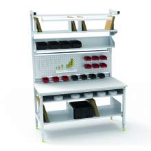 """Pre-Configured Packing Workbench With Lower Shelf 60 x 30""""Laminate Top"""