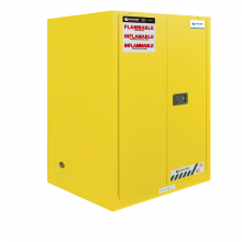 "FM Approved 30gal Flammable Cabinet 44x 43x 19"" Self-closing Door"