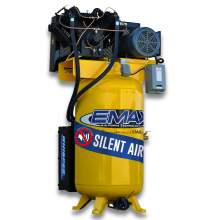 EMAX Industrial Plus  10 HP 1 PH 80 Gallon Vertical with Air Silencer