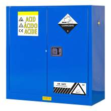 "Acid And Corrosive Cabinet 30 Gallon 44"" x 43"" x 18"" Self-Closing Door"