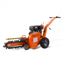 15hp Gas Powered Walk-Behind Trencher Laying Cables